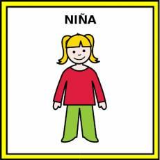 NIÑA - Pictograma (color)