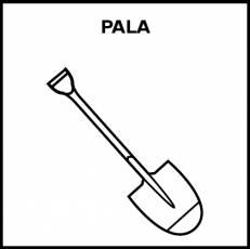 PALA - Pictograma (blanco y negro)