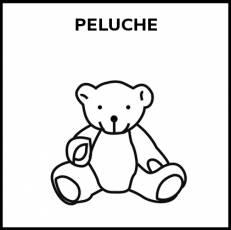 PELUCHE - Pictograma (blanco y negro)