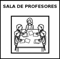 SALA DE PROFESORES - Pictograma (blanco y negro)