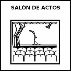 SALÓN DE ACTOS - Pictograma (blanco y negro)