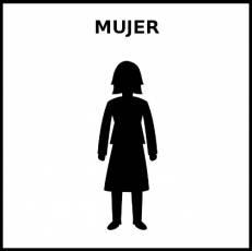 MUJER - Pictograma (blanco y negro)
