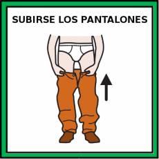 SUBIRSE LOS PANTALONES - Pictograma (color)