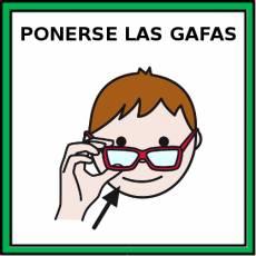 PONERSE LAS GAFAS - Pictograma (color)