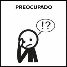 PREOCUPADO - Pictograma (blanco y negro)