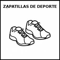 ZAPATILLAS DE DEPORTE - Pictograma (blanco y negro)
