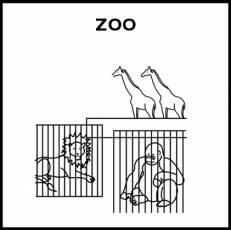ZOO - Pictograma (blanco y negro)