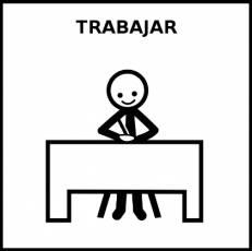TRABAJAR - Pictograma (blanco y negro)