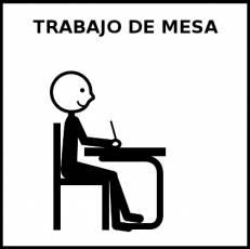 TRABAJO DE MESA - Pictograma (blanco y negro)