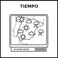 TIEMPO (ATMOSFÉRICO) - Pictograma (blanco y negro)
