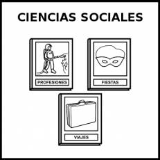 CIENCIAS SOCIALES - Pictograma (blanco y negro)
