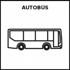 AUTOBÚS - Pictograma (blanco y negro)