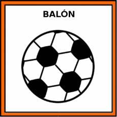 BALÓN (DE FÚTBOL) - Pictograma (color)