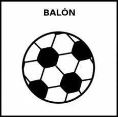 BALÓN (DE FÚTBOL) - Pictograma (blanco y negro)