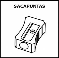 SACAPUNTAS - Pictograma (blanco y negro)