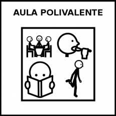 AULA POLIVALENTE - Pictograma (blanco y negro)