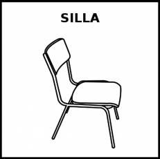 SILLA - Pictograma (blanco y negro)