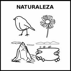 NATURALEZA - Pictograma (blanco y negro)