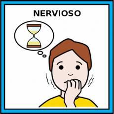 NERVIOSO - Pictograma (color)