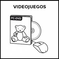 VIDEOJUEGOS - Pictograma (blanco y negro)