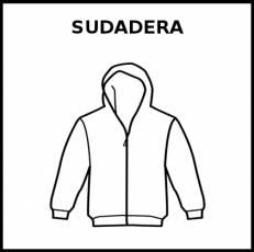 SUDADERA - Pictograma (blanco y negro)