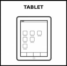 TABLET - Pictograma (blanco y negro)