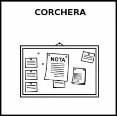 CORCHERA - Pictograma (blanco y negro)