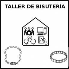 TALLER DE BISUTERÍA - Pictograma (blanco y negro)