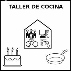 TALLER DE COCINA - Pictograma (blanco y negro)