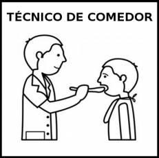 TÉCNICO DE COMEDOR (HOMBRE) - Pictograma (blanco y negro)