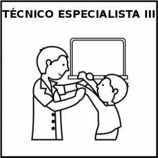 TÉCNICO ESPECIALISTA III (HOMBRE) - Pictograma (blanco y negro)