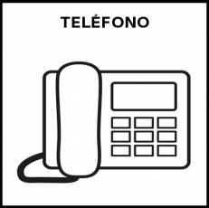 TELÉFONO FIJO - Pictograma (blanco y negro)