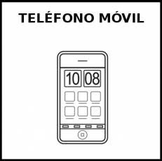TELÉFONO MÓVIL - Pictograma (blanco y negro)