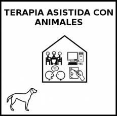 TERAPIA ASISTIDA CON ANIMALES - Pictograma (blanco y negro)