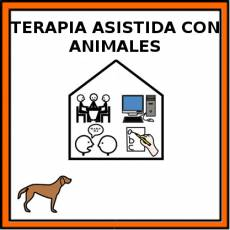TERAPIA ASISTIDA CON ANIMALES - Pictograma (color)