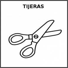 TIJERAS (ESCOLARES) - Pictograma (blanco y negro)