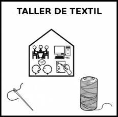 TALLER DE TEXTIL - Pictograma (blanco y negro)