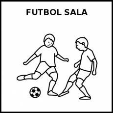 FÚTBOL SALA - Pictograma (blanco y negro)