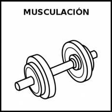 MUSCULACIÓN - Pictograma (blanco y negro)