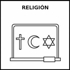 RELIGIÓN - Pictograma (blanco y negro)