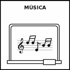 MÚSICA (ÁREA) - Pictograma (blanco y negro)