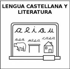 LENGUA CASTELLANA Y LITERATURA - Pictograma (blanco y negro)