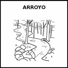 ARROYO - Pictograma (blanco y negro)