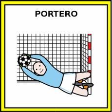 PORTERO (FÚTBOL) - Pictograma (color)
