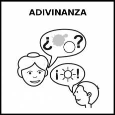 ADIVINANZA - Pictograma (blanco y negro)