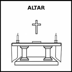 ALTAR - Pictograma (blanco y negro)