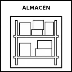 ALMACÉN - Pictograma (blanco y negro)