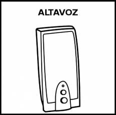 ALTAVOZ - Pictograma (blanco y negro)