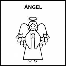 ÁNGEL - Pictograma (blanco y negro)