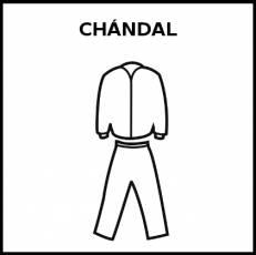 CHÁNDAL - Pictograma (blanco y negro)